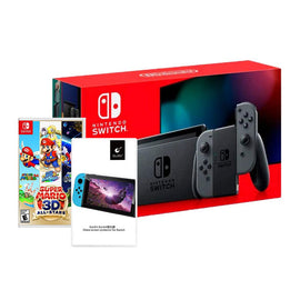 Nintendo Switch Gray Joy-Con with Super Mario 3D All Star Bundle [Version 2]