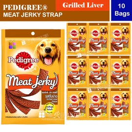 PEDIGREE® Meat Jerky Strap Grilled Liver 10 Bags