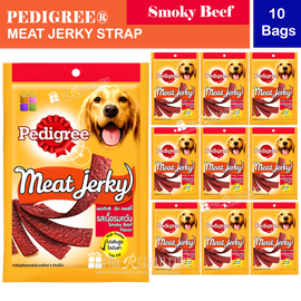 PEDIGREE® Meat Jerky Strap Smoky-beef 10 Bags