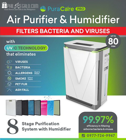 PuraCare Pro 8 Stage Air Purifier and Humidifier up to 80 sqm w/Warranty