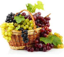 Overflowing Grapes Basket