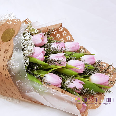 Beautiful Pink Tulips Bouquet