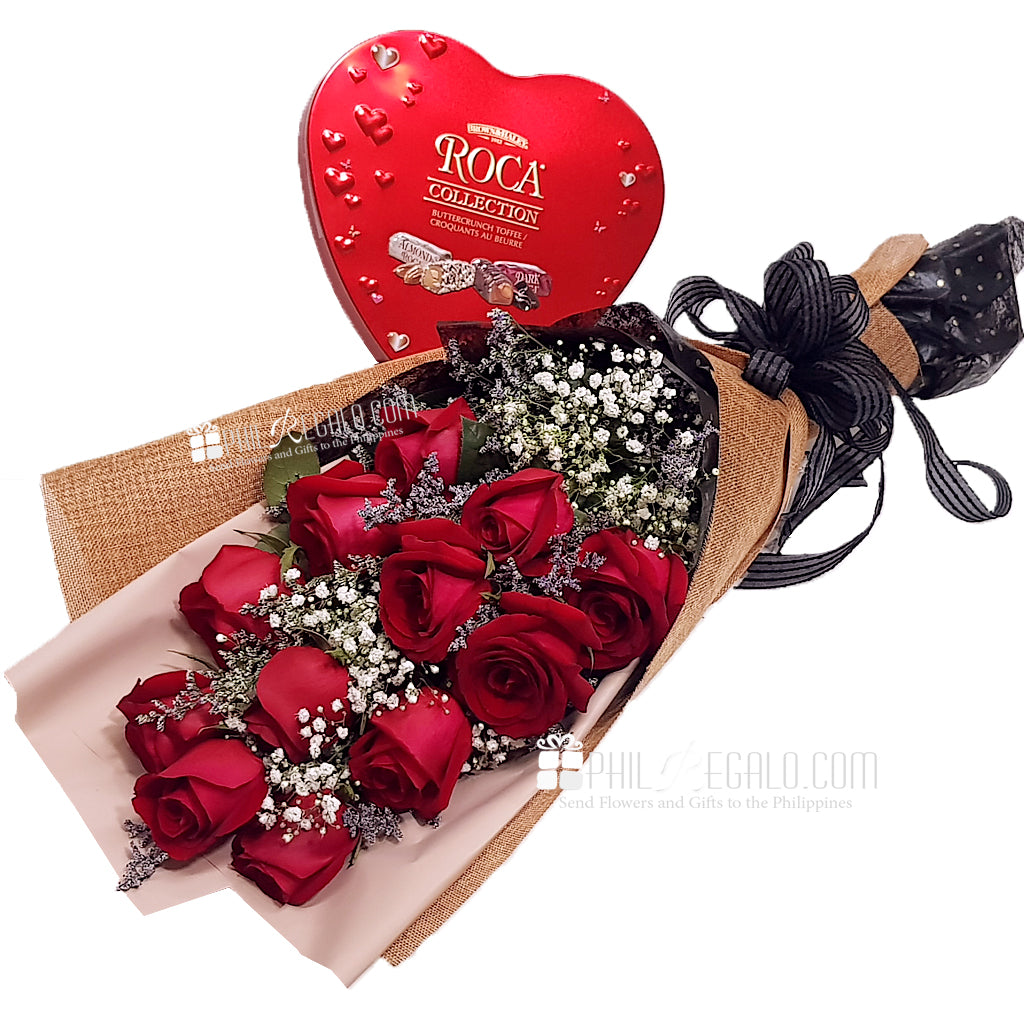 Red Roses Bouquet Heart Roca