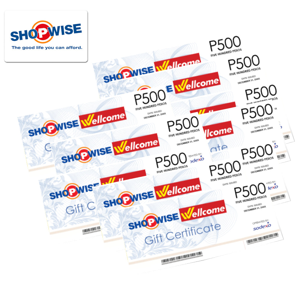 Shopwise and Wellcome Gift Certificates 5000