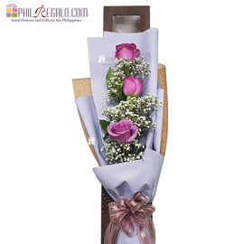 ILY with Splendor Lilac Rose Bouquet
