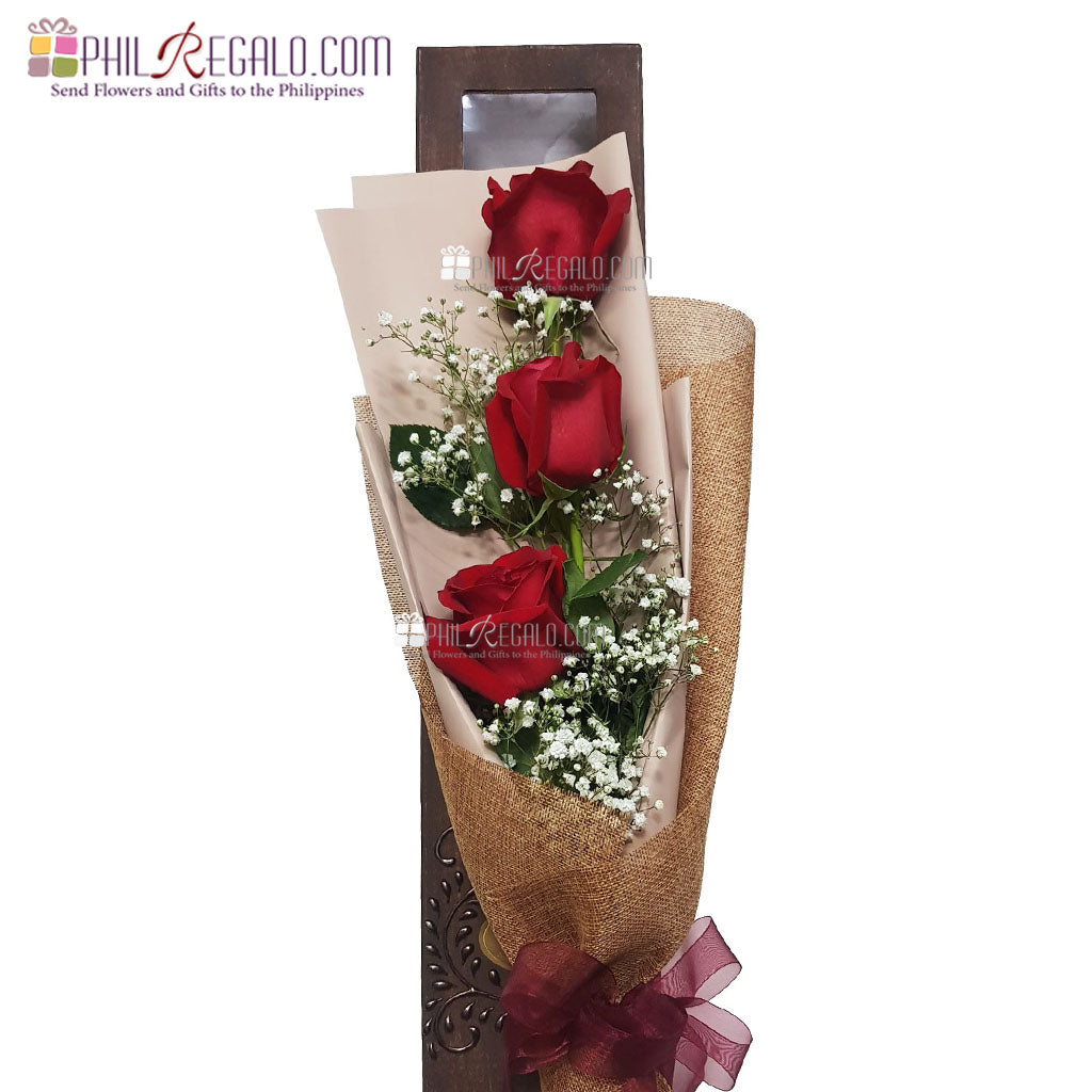 ILY with Passion Red Rose Bouquet