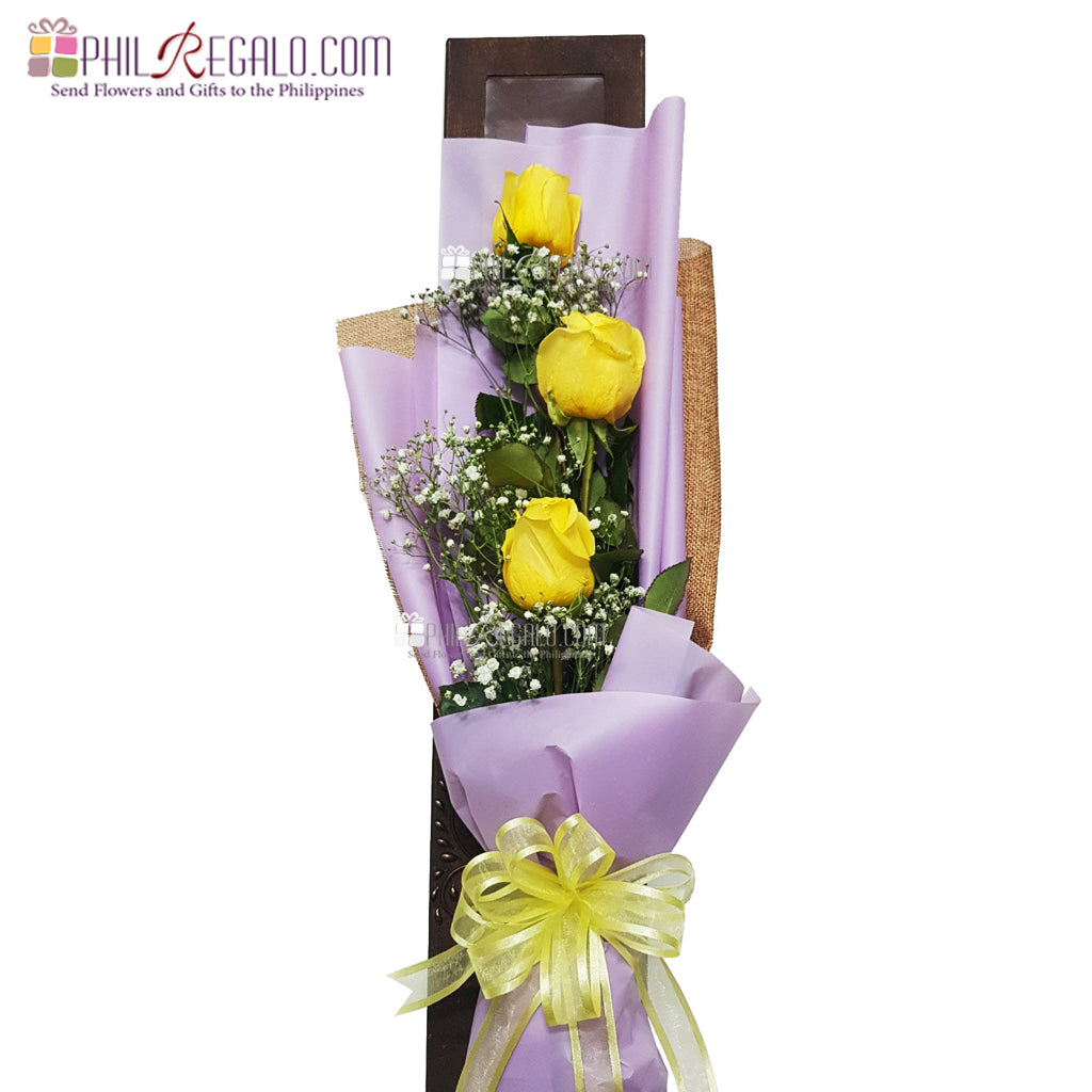 ILY with Care Yellow Rose Bouquet