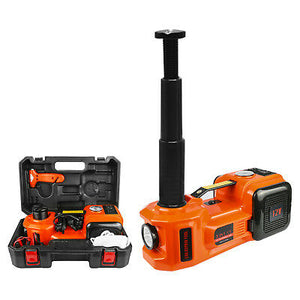 5 In 1 12V DC, 5 Ton Electric/Hydraulic Car Jack With Tyre Inflator Pump.