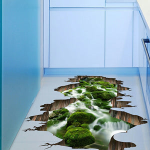 3D Floor Wall Stickers For Your Living Room, Bathroom And Kitchen
