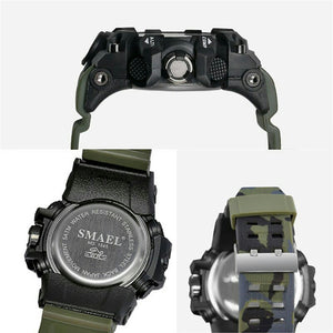 Top Luxury Brand SMAEL Men Sports Watches Camouflage Khaki Quartz Clock Man Army Military Watch