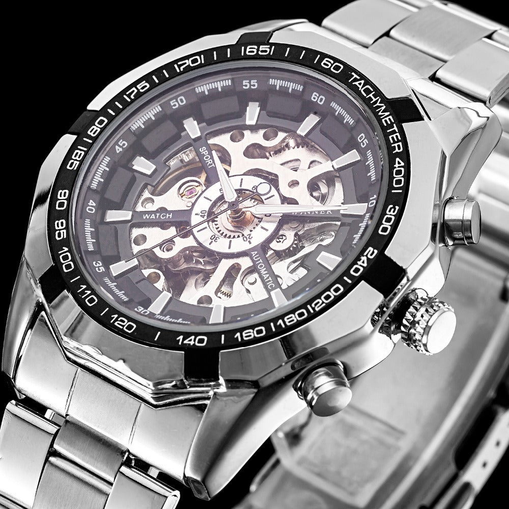 Japan Luxurious Self Winding Mechanical Automatic Stainless Watch