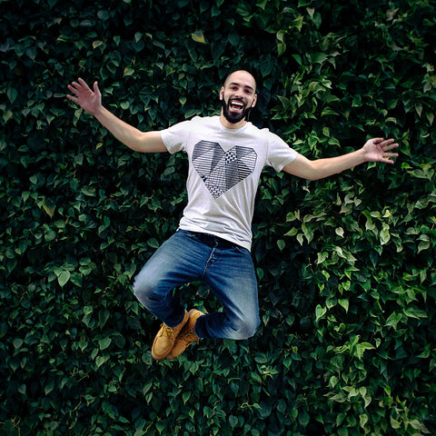 A person jumping in the air.