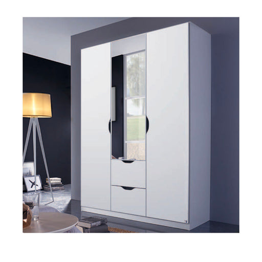 Rauch Arnstein 3 Door Combination Wardrobe in White