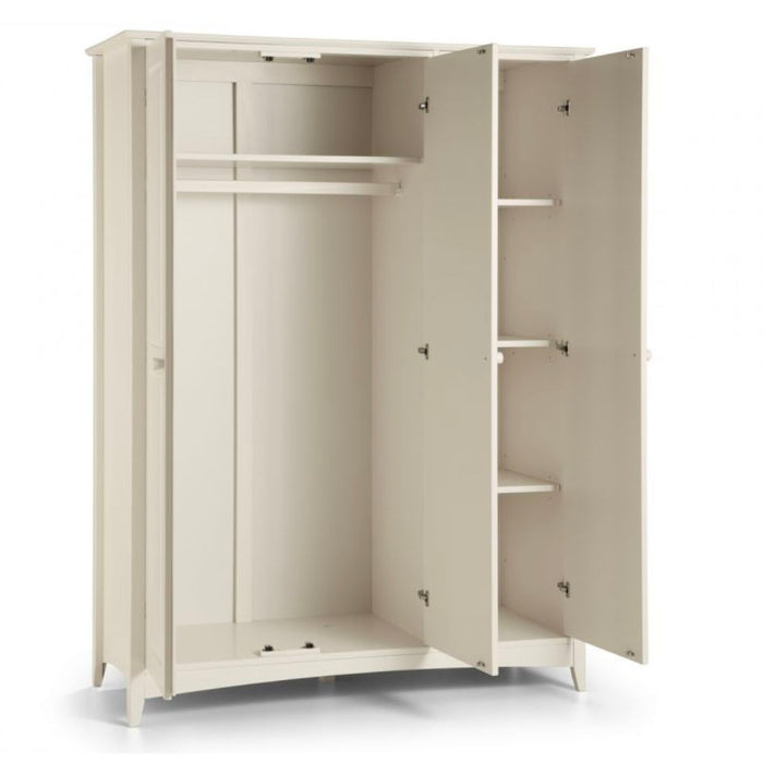 Camelia Stone White 3 Door Wardrobe