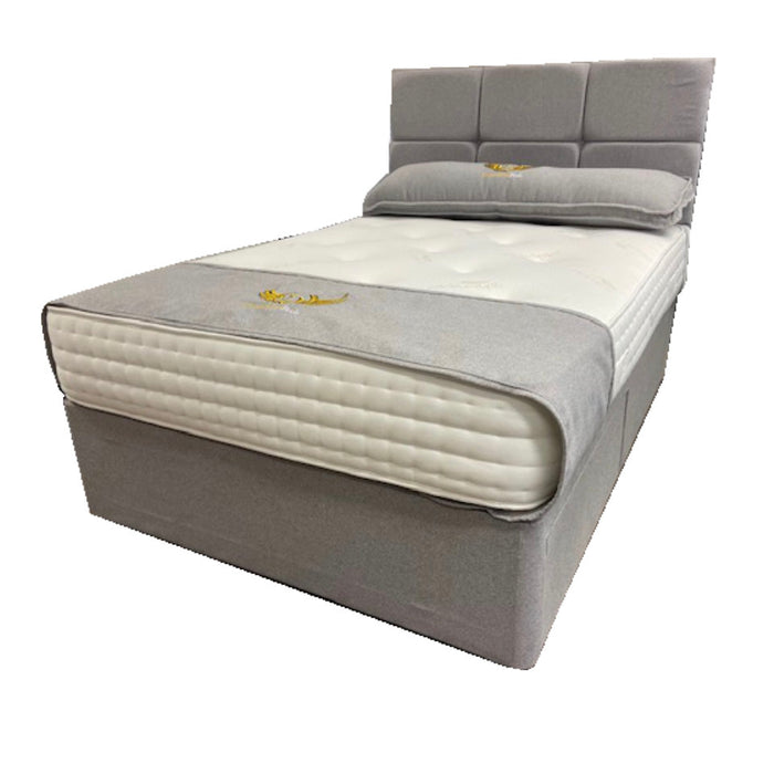 Dreamland Beds 150cm (5ft) Pocket Sprung Cashmere Kingsize Bed with Two Drawers & Headboard