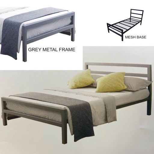 Eatton Metal Bed Frame in Grey