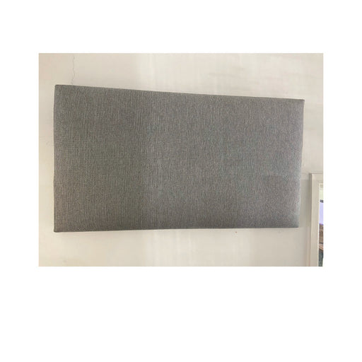 3ft Single York Fabric Square Headboard in Grey Fabric IN STOCK