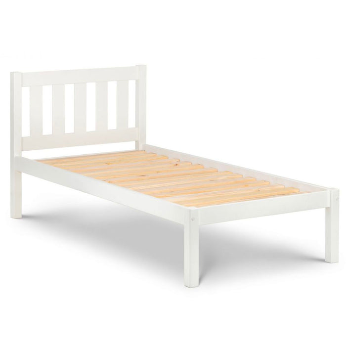 Lunar White Wooden Single Bed Frame IN STOCK