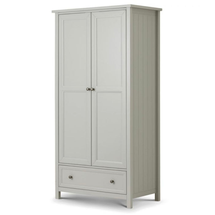 Maikoa Dove Grey 2 Door Combination Wardrobe