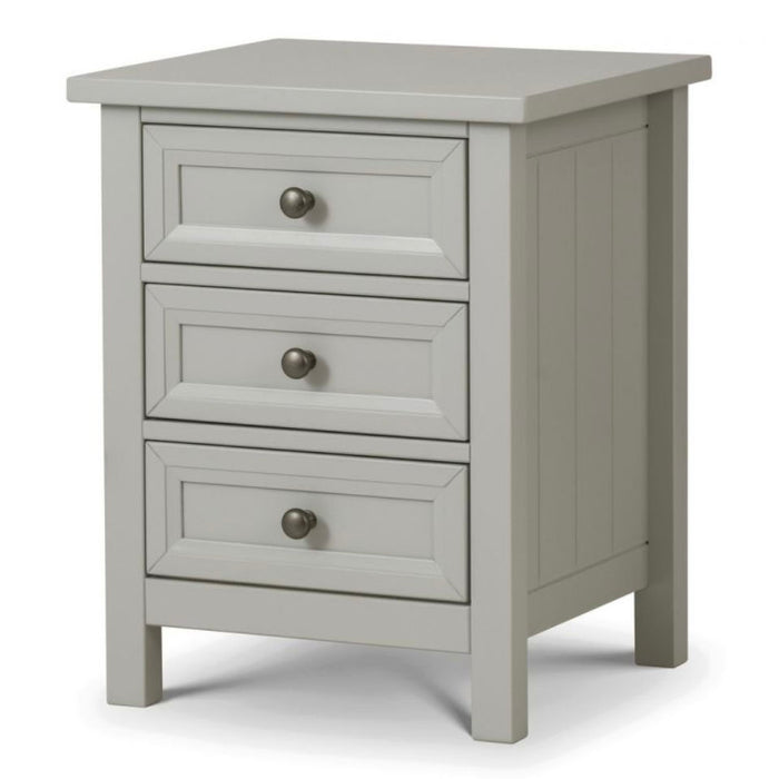 Maikoa Dove Grey 3 Drawer Bedside Cabinet