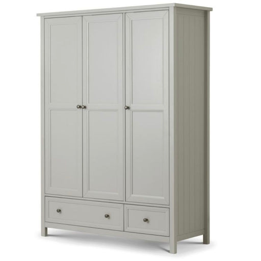 Maikoa Dove Grey 3 Door Combination Wardrobe