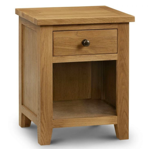 Marls Oak 1 Drawer Bedside Cabinet