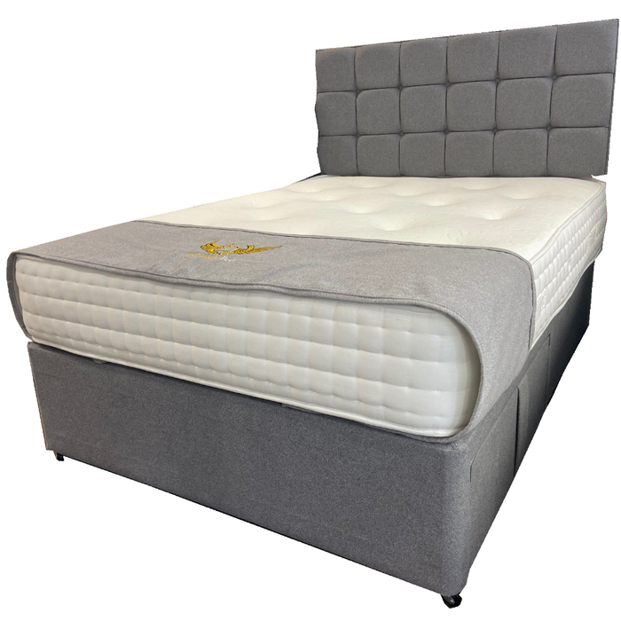 Dreamland Beds Opulence Memory 1500 120cm (4ft) Small Double Bed with Two Drawers & Headboard