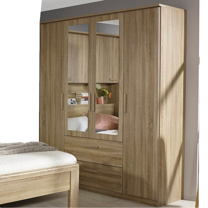Rauch Rivera 4 Door Combination Wardrobe in Sonoma Oak