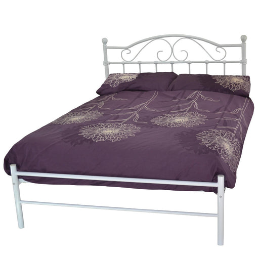 Susie Metal Bed Frame in White Finish