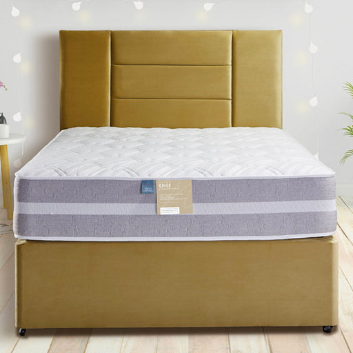 Pennine Beds Ultra Edge Natural 1000 Pocket & Reflex Foam 120cm (4ft) Three Quarter Divan Bed
