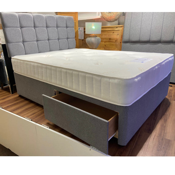 Dreamland Beds 150cm (5ft) Zante Kingsize Bed with Two Drawers & Headboard