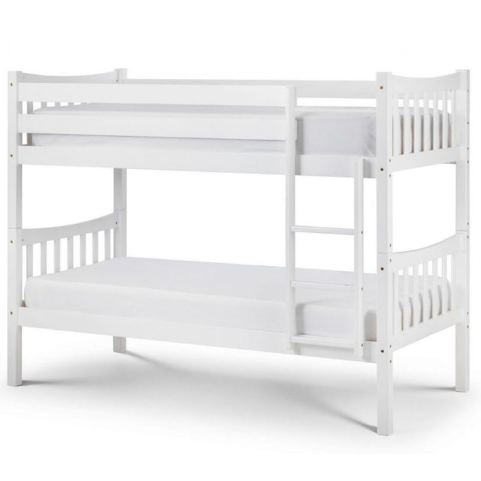 Zoe White Wooden Bunk Bed