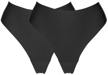 CAMELTOE PROOF HIGH RISE THONG (x2)