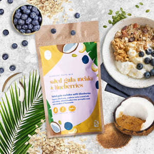 Salted Gula Melaka & Blueberries Overnight Oats