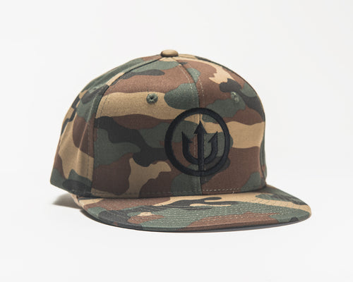 Hat - Cammo Snapback with Black Stitching