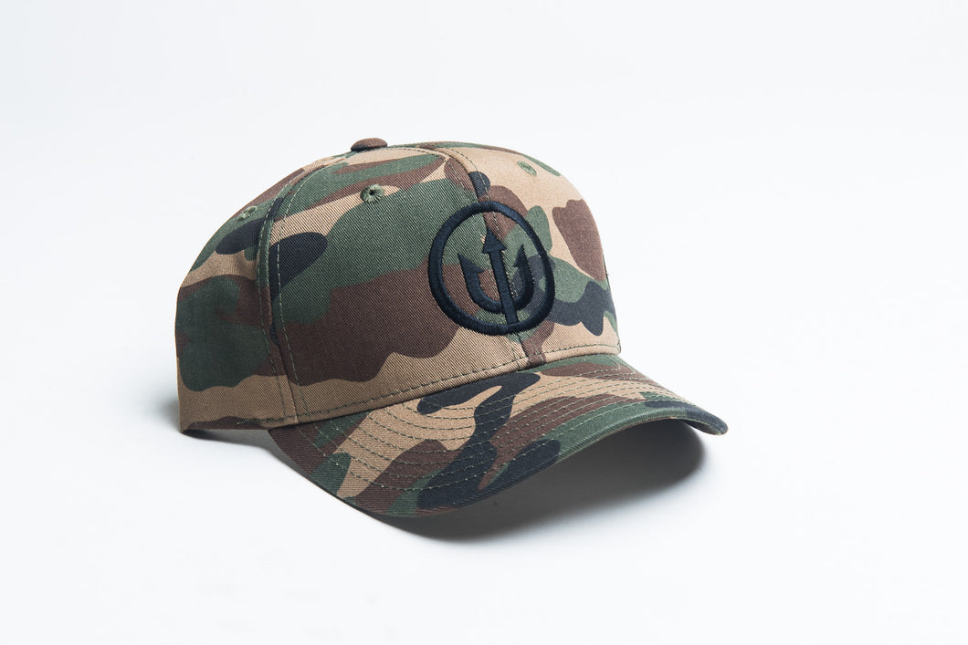 Curved Bill - Cammo Snapback with Black Stitching