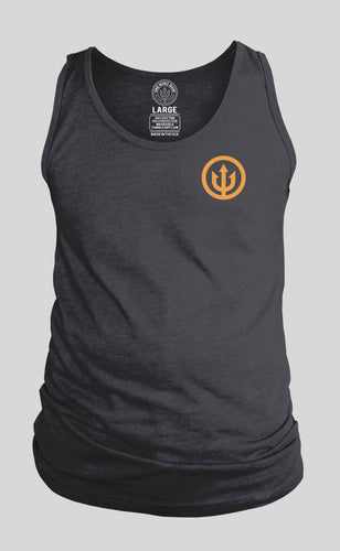 Charcoal Tank with Orange Logo