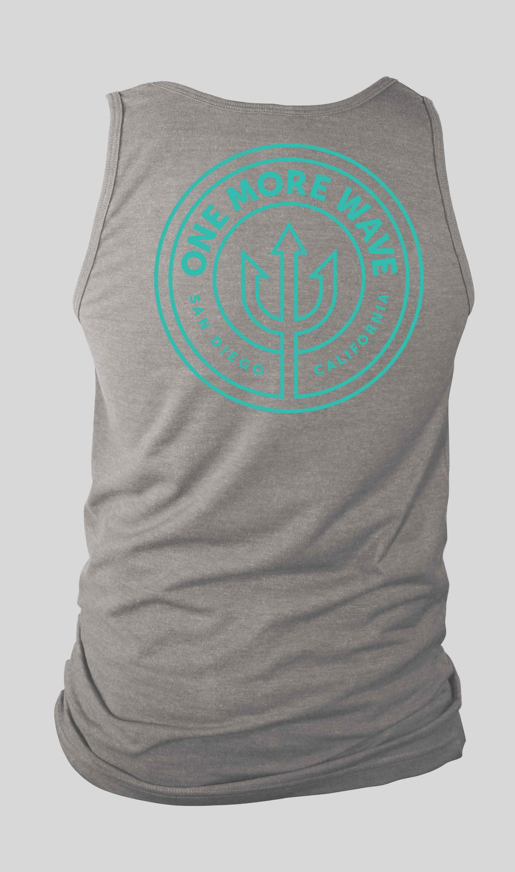 Grey Tank with Teal Logo