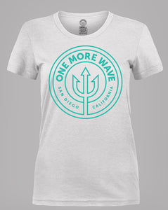 Women's T-shirt - White w/Teal Logo