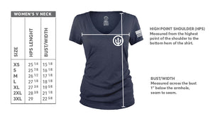 Women's V-Neck - Retro Logo