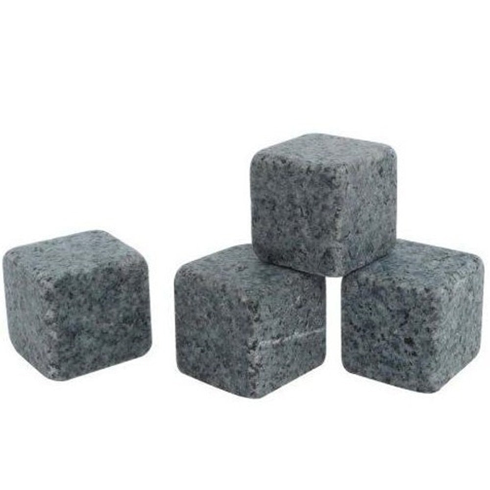 Whiskey Stones - Set of 4 (Black / Light Gray / White)