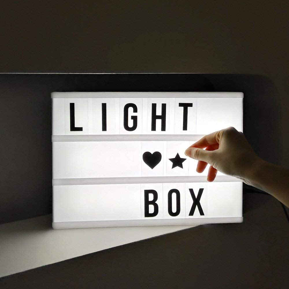 LED Marquee Light Box Sign (Set of Letters Included)