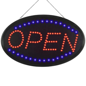 OPEN - Oval LED Sign