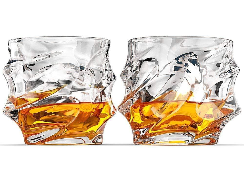 Premium Design Handblown Rocks Glass - Set of 2