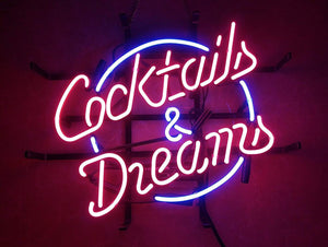 COCKTAILS & DREAMS - Neon Sign