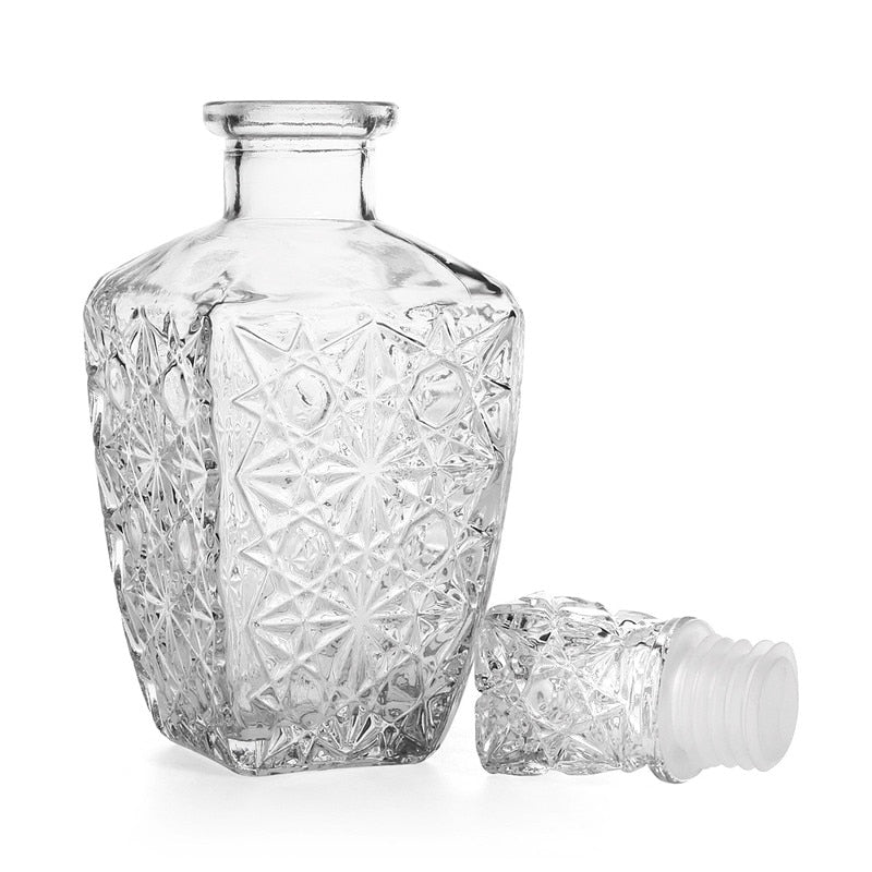 Crystal Glass Whiskey Decanter (250 ml/500 ml/850 ml)