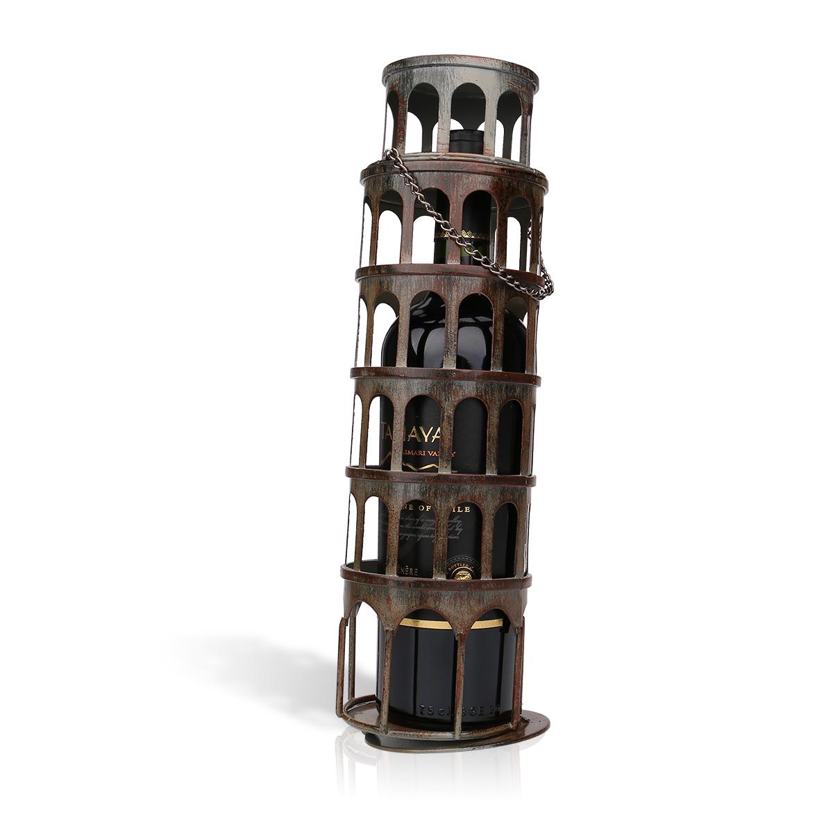 Vintage Leaning Tower Bottle Holder