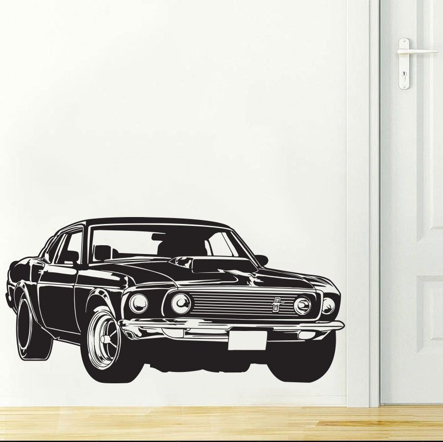 Dodge Challenger Wall Art Decal (5 Colors Available)
