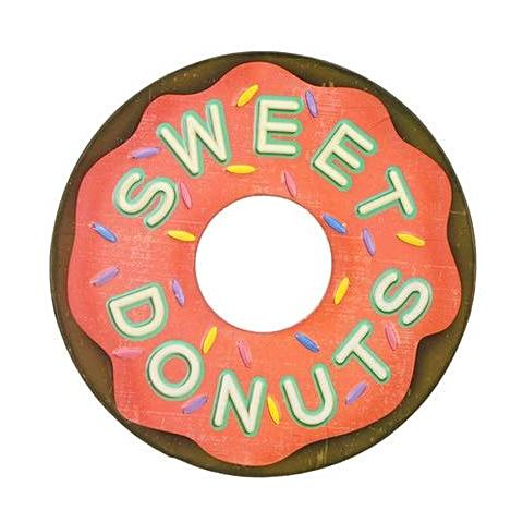 """Sweet Donuts"" Vintage Tin Sign"