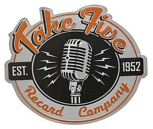 """Take Five Record Company"" Vintage Tin Sign"